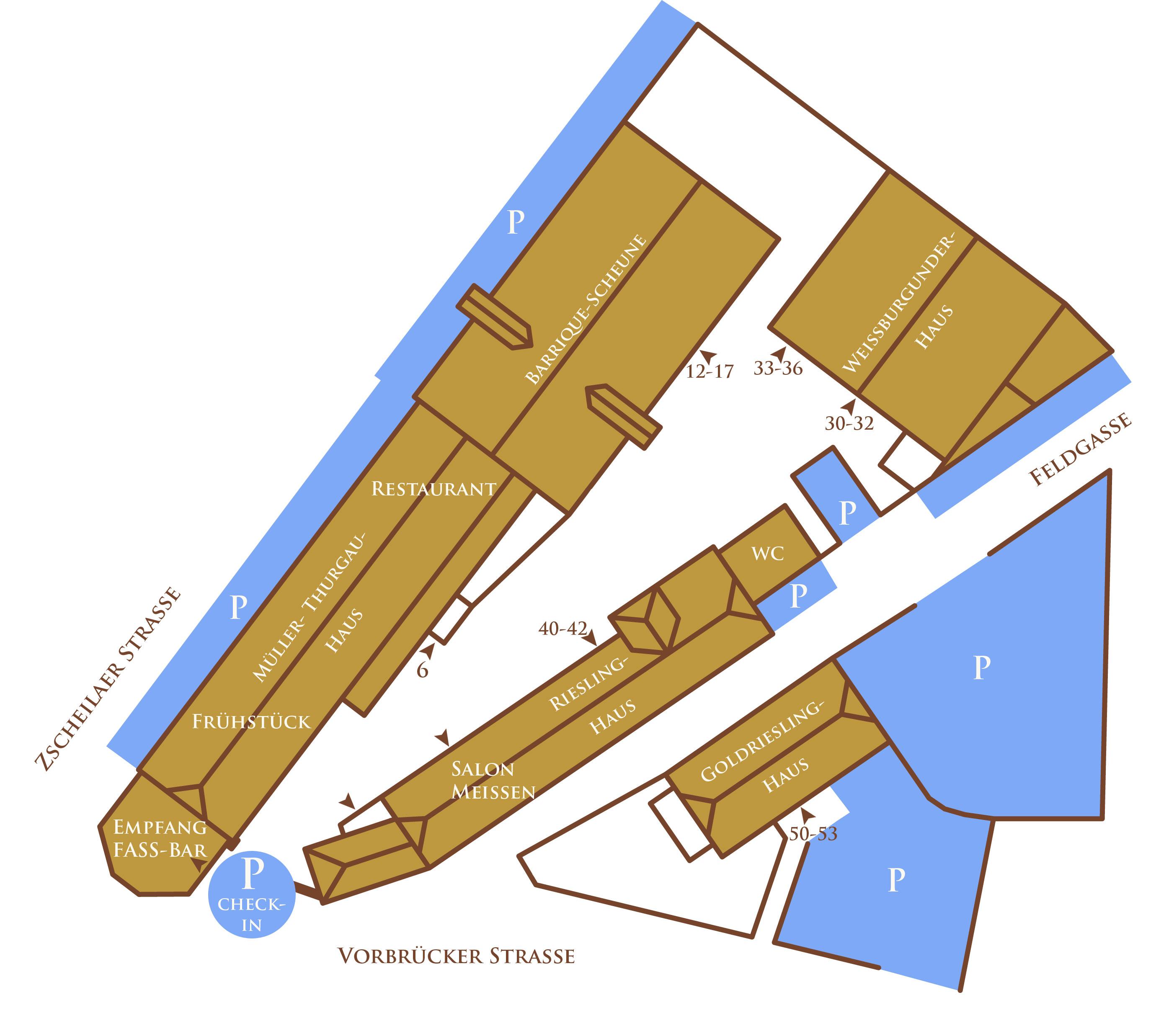 Lageplan des Hotel Goldenes Fass in Meißen